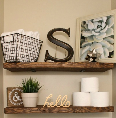 mommy shelves suite faux floating bathroom diy
