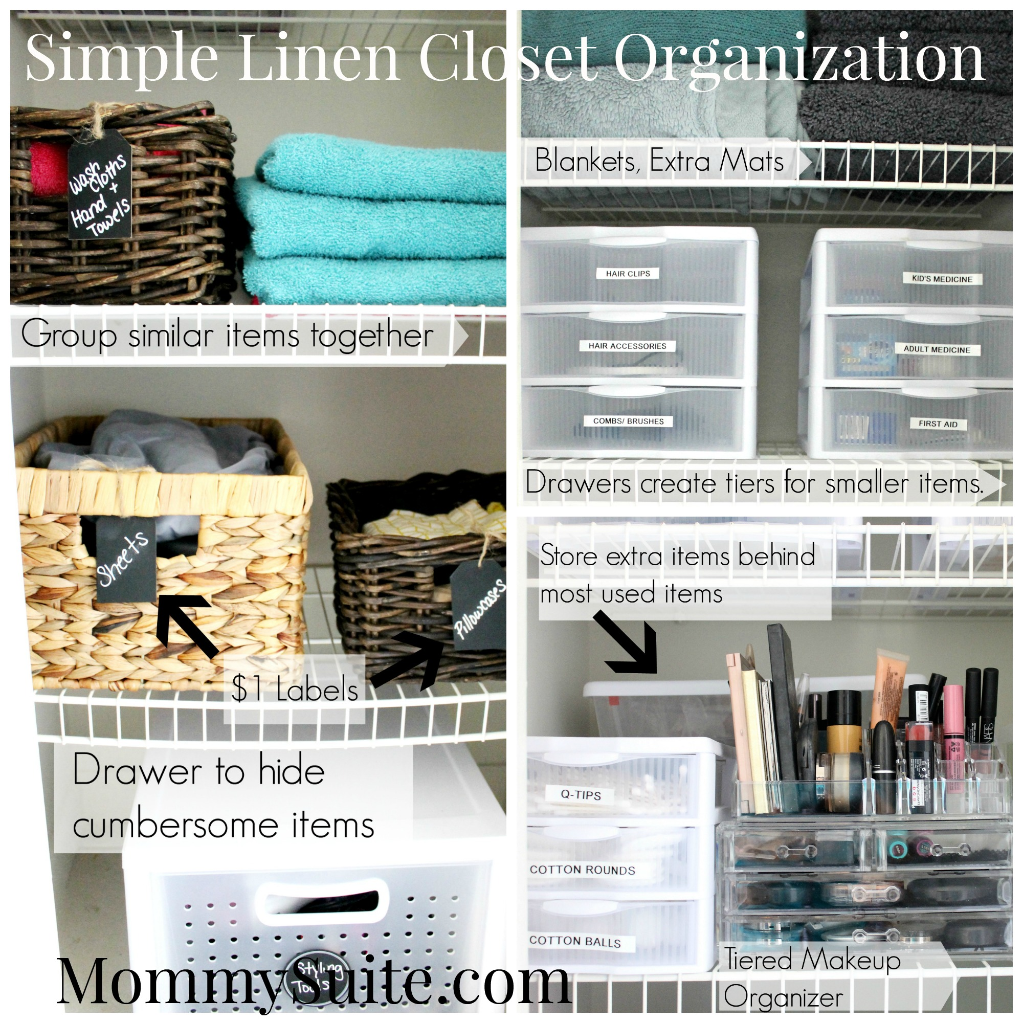 Simple Linen Closet Organization Mommy Suite
