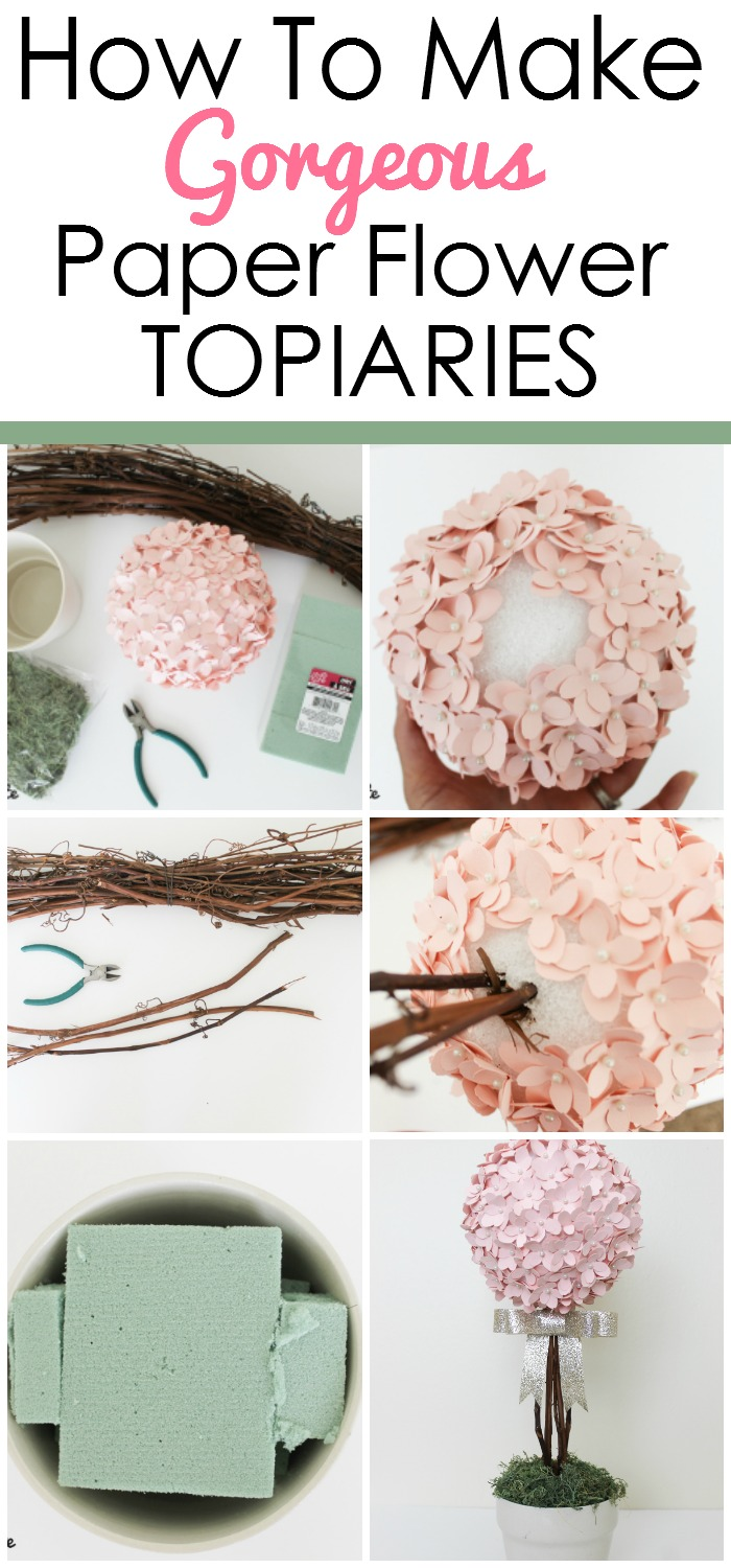 Diy Paper Flower Topiary Mommy Suite